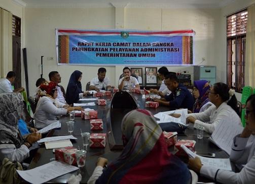 Rapat Kerja Camat Dalam Rangka Peningkatan Pelayanan Administrasi Pemerintah Umum Di Kecamatan Mandau